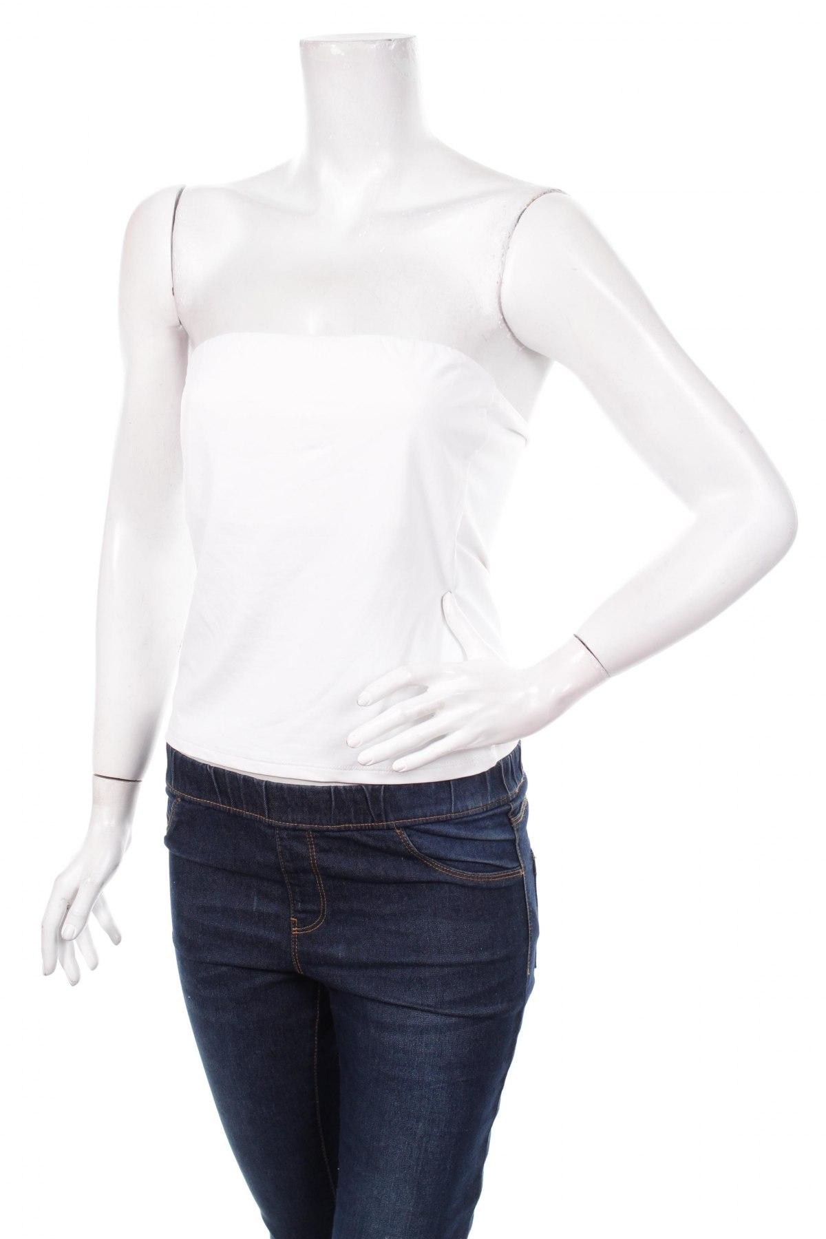 Tricou de damă Promod, Mărime L, Culoare Alb, Poliamidă, elastan, Preț 57,83 Lei