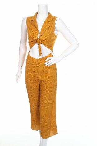 Дамски гащеризон Honey Punch, Размер S, Цвят Жълт, Вискоза, Цена 17,38лв.
