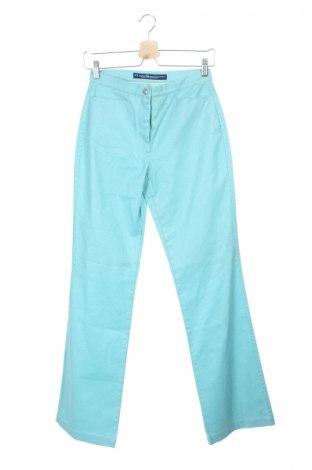Дамски панталон PLOUMANAC'H, Размер XS, Цвят Син, 98% памук, 2% еластан, Цена 17,43лв.