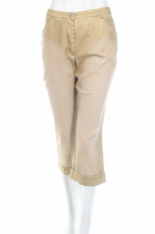 Дамски панталон PLOUMANAC'H, Размер S, Цвят Бежов, 98% памук, 2% еластан, Цена 21,53лв.