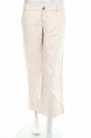 Дамски панталон Stefanel, Размер M, Цвят Бежов, 63% памук, 37% лен, Цена 12,08лв.
