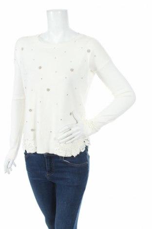 Дамски пуловер, Размер M, Цвят Бял, 50% вискоза, 25% модал, 25% полиамид, Цена 9,80лв.