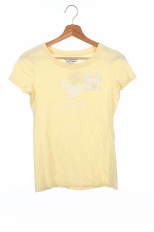 Детска тениска Abercrombie & Fitch, Размер 15-18y/ 170-176 см, Цвят Жълт, Памук, Цена 24,00лв.