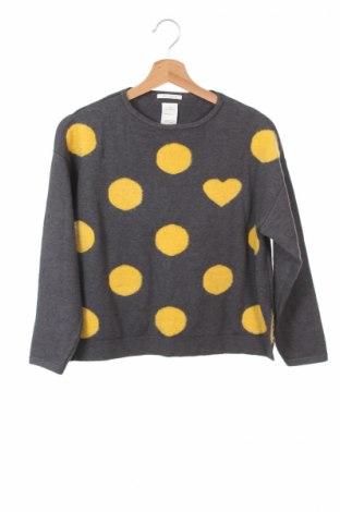 Детски пуловер Zara, Размер 11-12y/ 152-158 см, Цвят Сив, 70% полиамид, 19% вискоза, 11% полиестер, Цена 7,00лв.