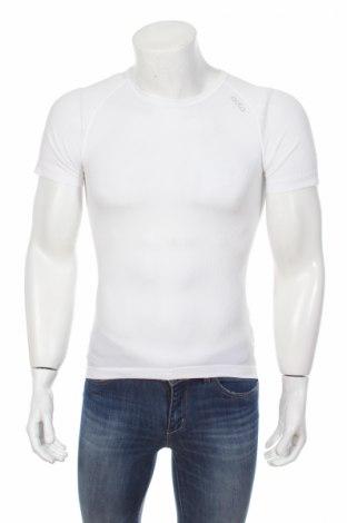 Мъжка тениска Odlo, Размер S, Цвят Бял, 100% полиестер, Цена 34,45лв.