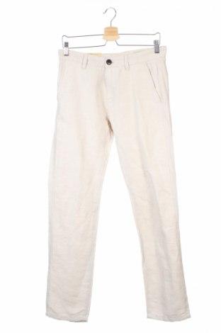Мъжки панталон Jack & Jones, Размер S, Цвят Бежов, 55% лен, 45% памук, Цена 7,00лв.