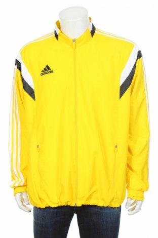 Мъжко спортно горнище Adidas, Размер L, Цвят Жълт, Полиестер, Цена 61,20лв.