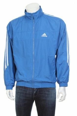 Мъжко спортно горнище Adidas, Размер M, Цвят Син, Полиестер, Цена 11,20лв.