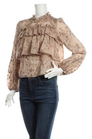Bluză de femei Zara, Mărime S, Culoare Bej, 81% poliester, 19% bumbac, Preț 92,84 Lei