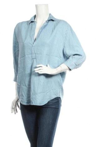 Дамска блуза Zara, Размер S, Цвят Син, Лиосел, Цена 7,35лв.