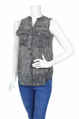 Дамска риза Gina Tricot, Размер XS, Цвят Черен, Полиестер, Цена 17,85лв.