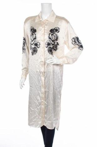 Дамска риза Topshop, Размер M, Цвят Бежов, Полиестер, Цена 31,50лв.