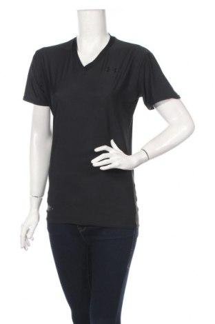 Tricou de femei Under Armour, Mărime XL, Culoare Negru, 82% poliester, 18% elastan, Preț 26,53 Lei