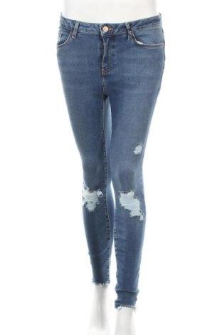 Дамски дънки New Look, Размер S, Цвят Син, 92% памук, 8% еластан, Цена 44,64лв.