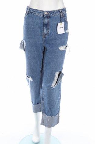 Дамски дънки New Look, Размер XL, Цвят Син, Памук, Цена 49,68лв.