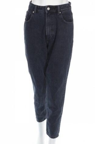Blugi de femei Zara, Mărime L, Culoare Albastru, Preț 106,11 Lei