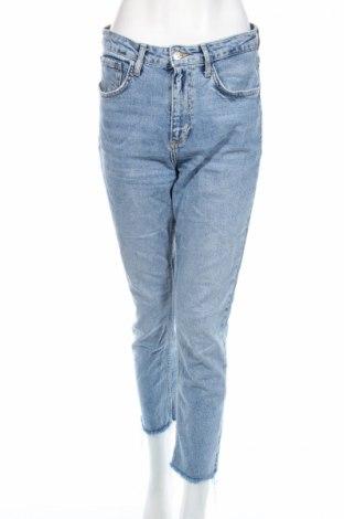 Дамски дънки Zara, Размер M, Цвят Син, Цена 42,48лв.