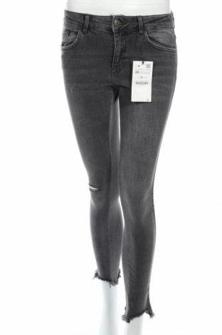 Blugi de femei Zara, Mărime S, Culoare Gri, 98% bumbac, 2% elastan, Preț 92,84 Lei
