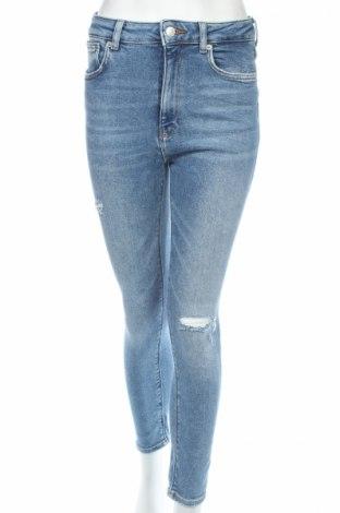 Blugi de femei Zara, Mărime M, Culoare Albastru, 92% bumbac, 6% poliester, 2% elastan, Preț 92,84 Lei