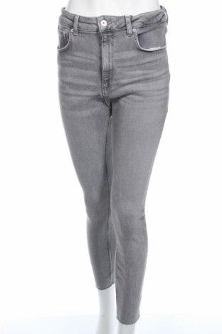 Blugi de femei Zara, Mărime XL, Culoare Gri, 95% bumbac, 3% poliester, 2% elastan, Preț 85,39 Lei