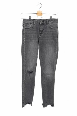 Blugi de femei Zara, Mărime S, Culoare Gri, 98% bumbac, 2% elastan, Preț 87,16 Lei