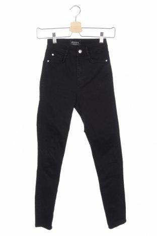 Blugi de femei Zara, Mărime XS, Culoare Negru, 92% bumbac, 6% poliester, 2% elastan, Preț 62,10 Lei