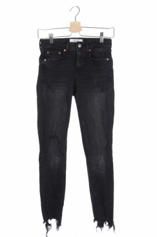 Dámske džínsy  Zara, Veľkosť XXS, Farba Čierna, 99% bavlna, 1% elastan, Cena  16,74€