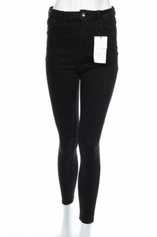 Blugi de femei Zara, Mărime XL, Culoare Negru, 89% bumbac, 11% elastan, Preț 111,79 Lei