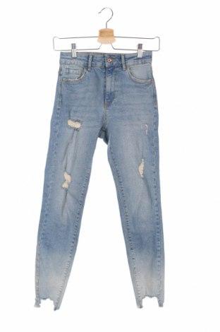 Dámske džínsy  Zara, Veľkosť XS, Farba Modrá, 98% bavlna, 2% elastan, Cena  21,90€