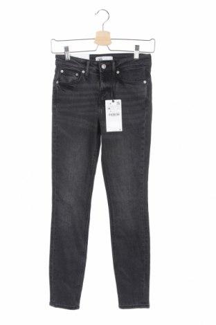Γυναικείο Τζίν Zara, Μέγεθος XS, Χρώμα Γκρί, 78% βαμβάκι, 18% lyocell, 4% ελαστάνη, Τιμή 30,41€