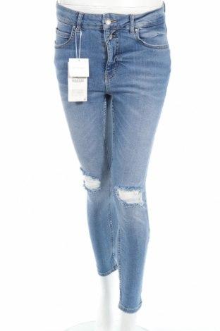 Дамски дънки Zara, Размер L, Цвят Син, 98% памук, 2% еластан, Цена 42,48лв.