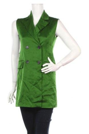 Vestă de femei Zara, Mărime S, Culoare Verde, Viscoză, Preț 114,34 Lei