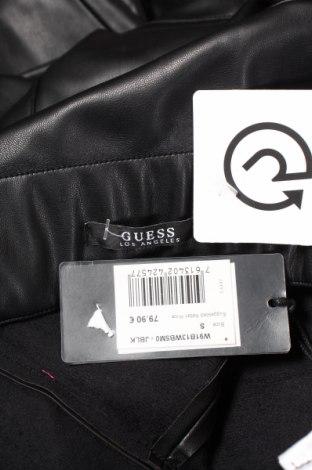 Дамски кожен панталон Guess, Размер S, Цвят Черен, Еко кожа, Цена 81,75лв.