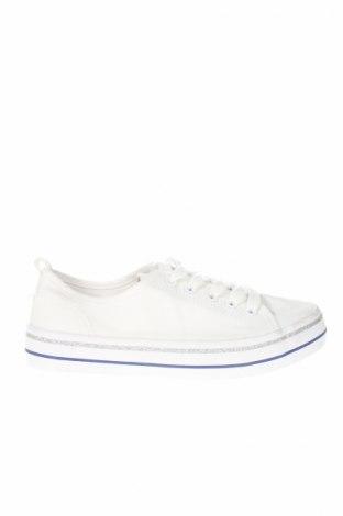 Γυναικεία παπούτσια H&M, Μέγεθος 36, Χρώμα Λευκό, Κλωστοϋφαντουργικά προϊόντα, Τιμή 12,28€