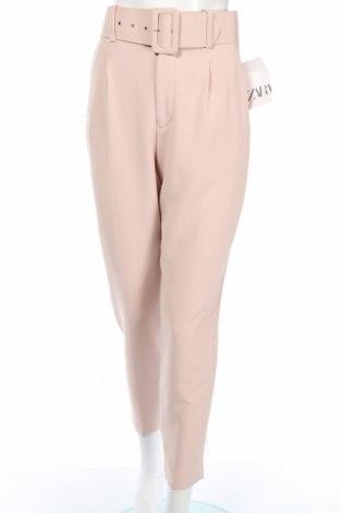 Pantaloni de femei Zara, Mărime XS, Culoare Bej, 94% poliester, 6% elastan, Preț 92,84 Lei