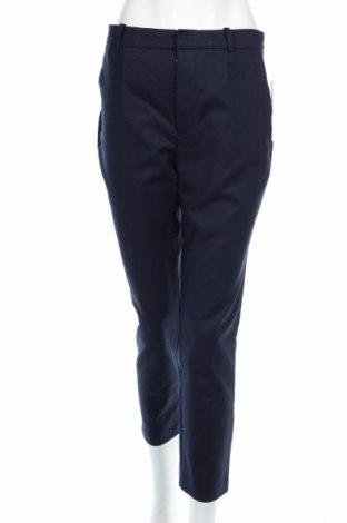 Pantaloni de femei Zara, Mărime L, Culoare Albastru, 97% bumbac, 3% elastan, Preț 111,79 Lei