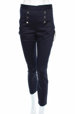 Dámské kalhoty  Zara, Rozměr M, Barva Modrá, 61% bavlna, 36% polyester, 3% elastan, Cena  454,00Kč