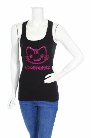 Γυναικείο αμάνικο μπλουζάκι One Love, Μέγεθος S, Χρώμα Μαύρο, Βαμβάκι, Τιμή 3,12€