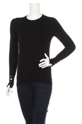 Pulover de femei Zara, Mărime S, Culoare Negru, 83% viscoză, 15% poliamidă, 2% elastan, Preț 111,79 Lei