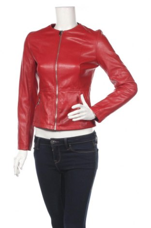 Γυναικείο δερμάτινο μπουφάν Zara, Μέγεθος XS, Χρώμα Κόκκινο, Δερματίνη, Τιμή 27,53€