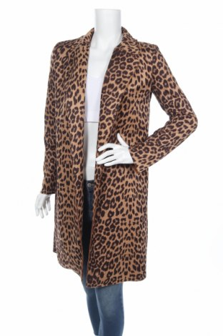 Дамско палто Zara, Размер XS, Цвят Кафяв, 94% полиестер, 6% еластан, Цена 35,70лв.