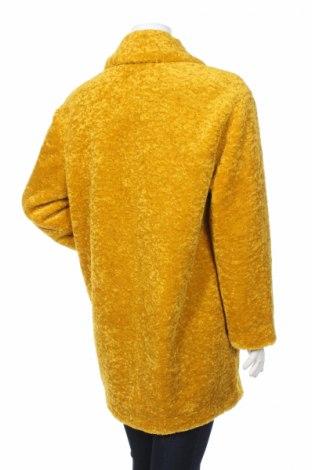Дамско палто Zara Trafaluc, Размер S, Цвят Жълт, Полиестер, Цена 46,44лв.