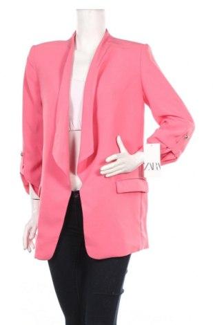 Dámské sako  Zara, Rozměr XL, Barva Růžová, 97% polyester, 3% elastan, Cena  453,00Kč
