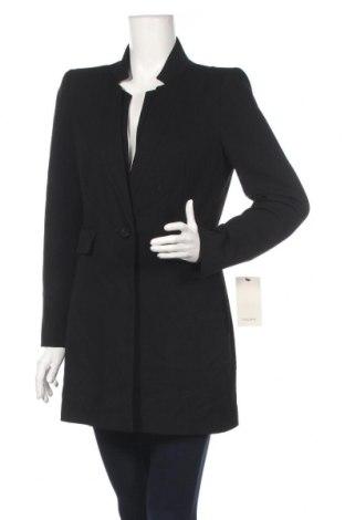 Sacou de femei Zara, Mărime L, Culoare Negru, 64% poliester, 32% viscoză, 4% elastan, Preț 189,47 Lei