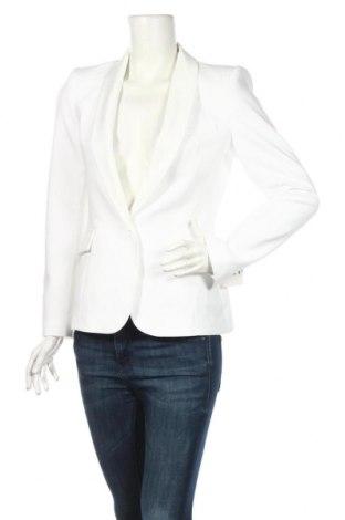 Дамско сако Zara, Размер M, Цвят Бял, 74% полиестер, 19% вискоза, 7% еластан, Цена 51,84лв.
