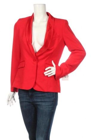 Дамско сако Zara, Размер L, Цвят Червен, 74% полиестер, 19% вискоза, 7% еластан, Цена 51,84лв.