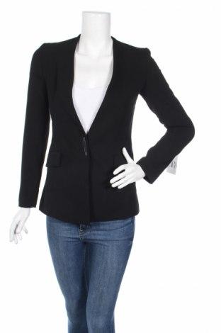 Sacou de femei Zara, Mărime XS, Culoare Negru, 72% poliester, 21% viscoză, 7% elastan, Preț 94,42 Lei