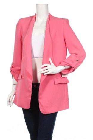 Дамско сако Zara, Размер M, Цвят Розов, 97% полиестер, 3% еластан, Цена 51,84лв.