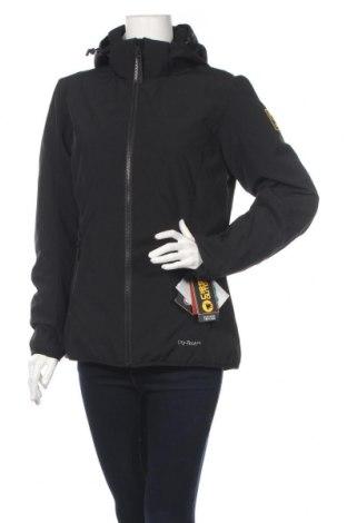 Дамско яке за зимни спортове Ciesse, Размер L, Цвят Черен, 94% полиестер, 6% еластан, Цена 389,25лв.