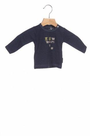 Детска блуза Noppies, Размер 1-2m/ 50-56 см, Цвят Син, 65% памук, 30% полиестер, 5% еластан, Цена 25,50лв.